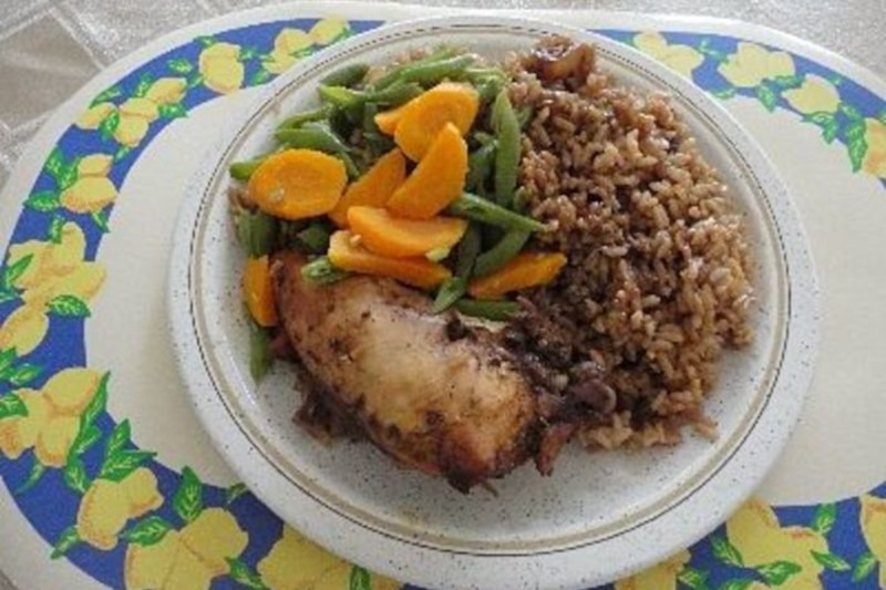 Barbados Green Peas and Rice